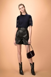 Pinko Velvet Cutout Blouse - Front cropped