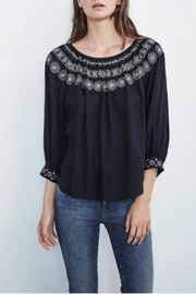 Velvet Embroidered Blouse - Product Mini Image