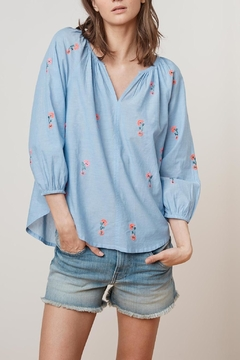 Shoptiques Product: Embroidered Chambray Raglan