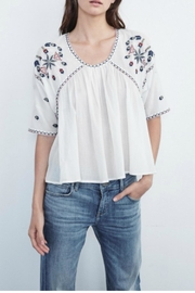 Velvet Embroidered Cotton Top - Product Mini Image