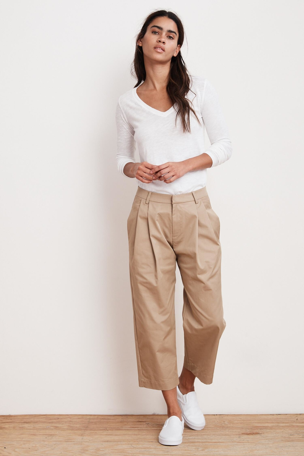 Velvet Enya Cropped Trousers - Front Cropped Image