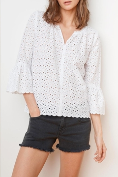 Velvet Saidee Eyelet Top - Product List Image