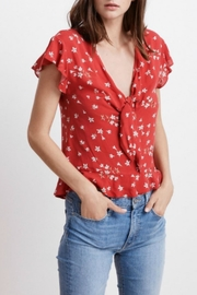 Velvet Floral Blouse - Product Mini Image