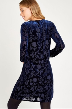 Apricot Velvet Floral Burnout Dress - Alternate List Image