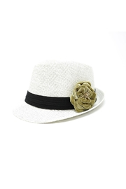 Nadya's Closet Velvet Floral Fashion-Fedora - Front cropped