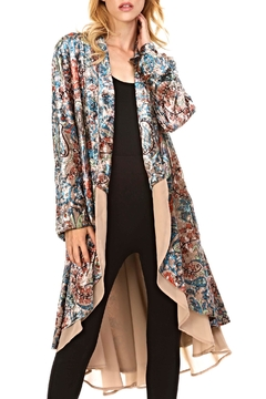 Shoptiques Product: Velvet Floral Jacket