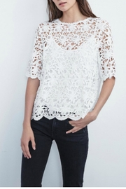 Velvet Floral Lace Top - Product Mini Image