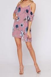 Peach Love California Velvet Flower Dress - Product Mini Image