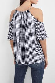 Shoptiques Product: Gingham Cold Shoulder Top - Front full body