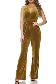 Hot & Delicious Velvet Halter Jumpsuit - Product Mini Image