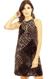 Veronica M Velvet Halter Keyhole Dress - Product Mini Image