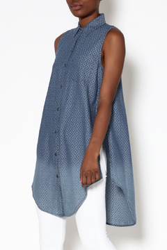 Velvet Heart Blue Artisan Tunic Top - Product List Image