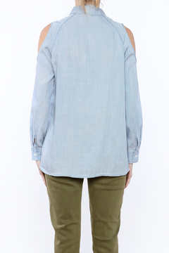 Velvet Heart Blue Button-Down Top - Alternate List Image