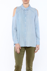 Velvet Heart Blue Button-Down Top - Product Mini Image