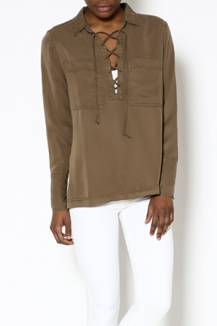 Velvet Heart Olive Long Sleeve Top - Product List Image