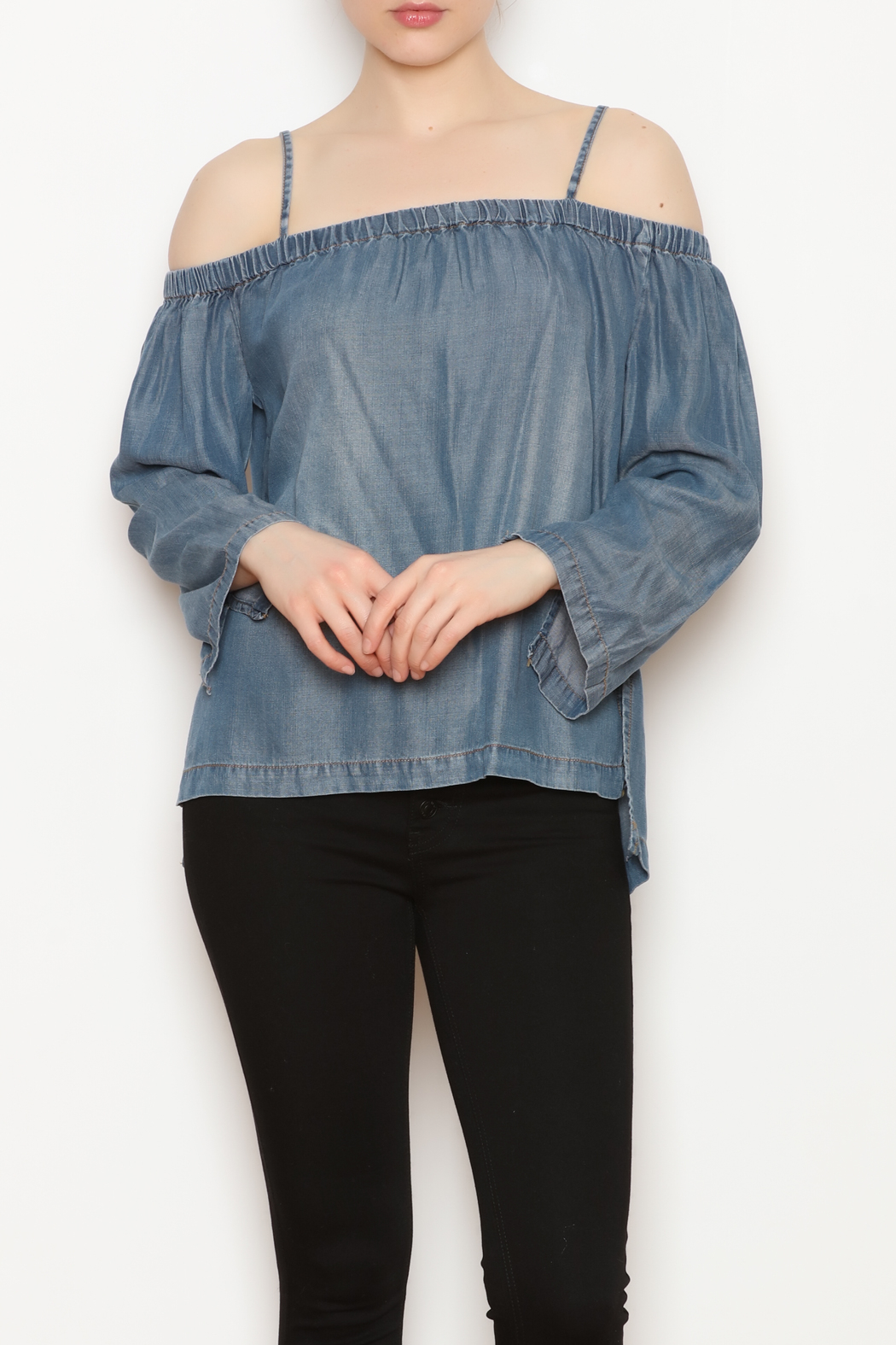 Velvet Heart Langley OTS Top - Front Full Image