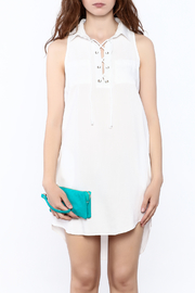 Velvet Heart White Sleeveless Dress - Side cropped