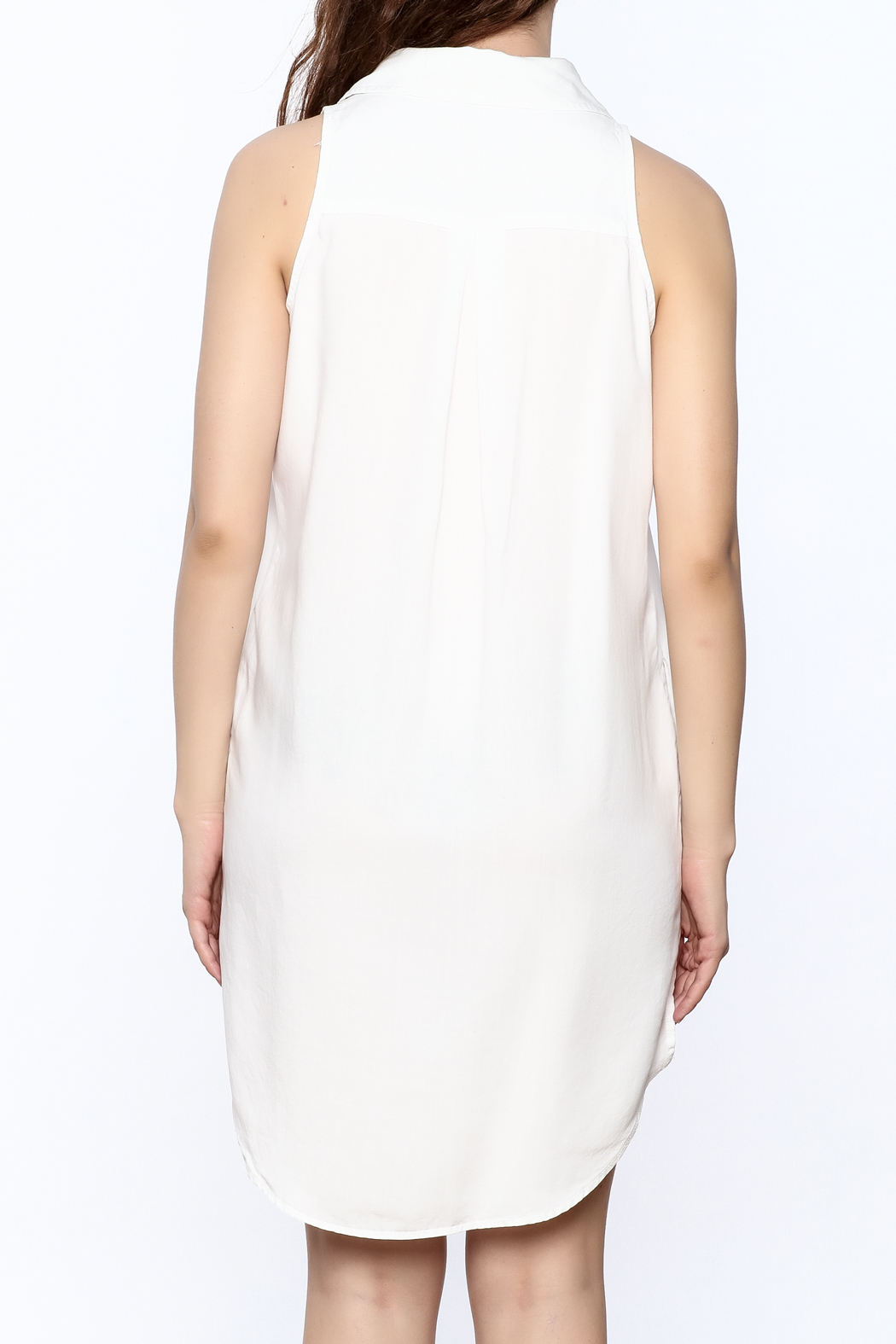 Velvet Heart White Sleeveless Dress - Back Cropped Image