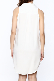 Velvet Heart White Sleeveless Dress - Back cropped