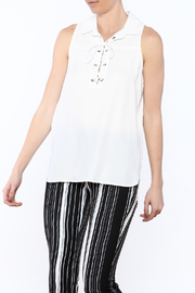 Velvet Heart White Sleeveless Top - Product Mini Image