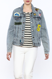 Velvet Heart Toni Patch Denim Jacket - Product Mini Image