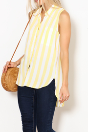 Velvet Heart Yellow Striped Top - Product Mini Image