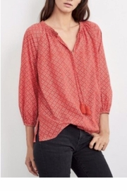 Velvet Hollie Peasant Top - Front cropped