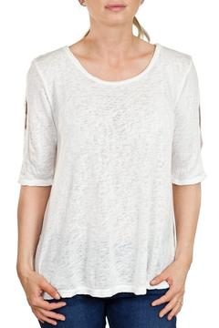 Shoptiques Product: White Three-Quarter Sleeve Top