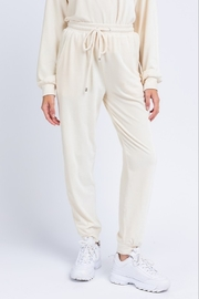 Le Lis Velvet Jogger Pants - Front full body