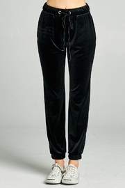 Pretty Little Things Velvet Joggers - Front cropped