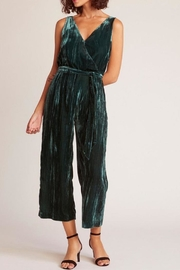 BB Dakota Velvet Jumpsuit, Emerald - Product Mini Image