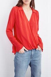 Velvet Justina Wrap Blouse - Front full body