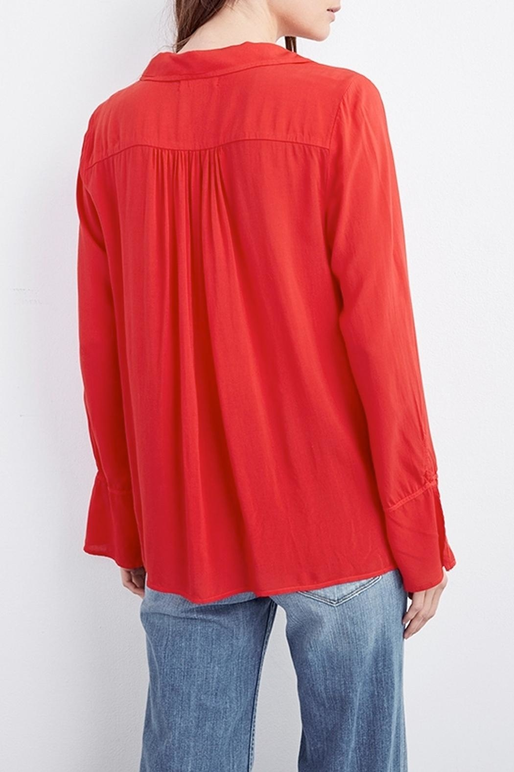 Velvet Justina Wrap Blouse - Side Cropped Image