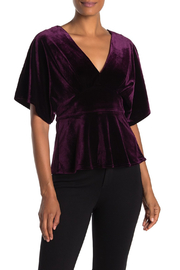 Adelyn Rae Velvet Kimono Top - Product Mini Image