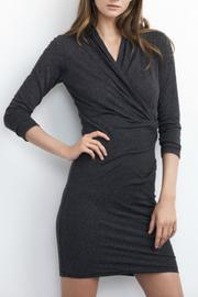 Velvet Knit Crossover Dress - Product Mini Image