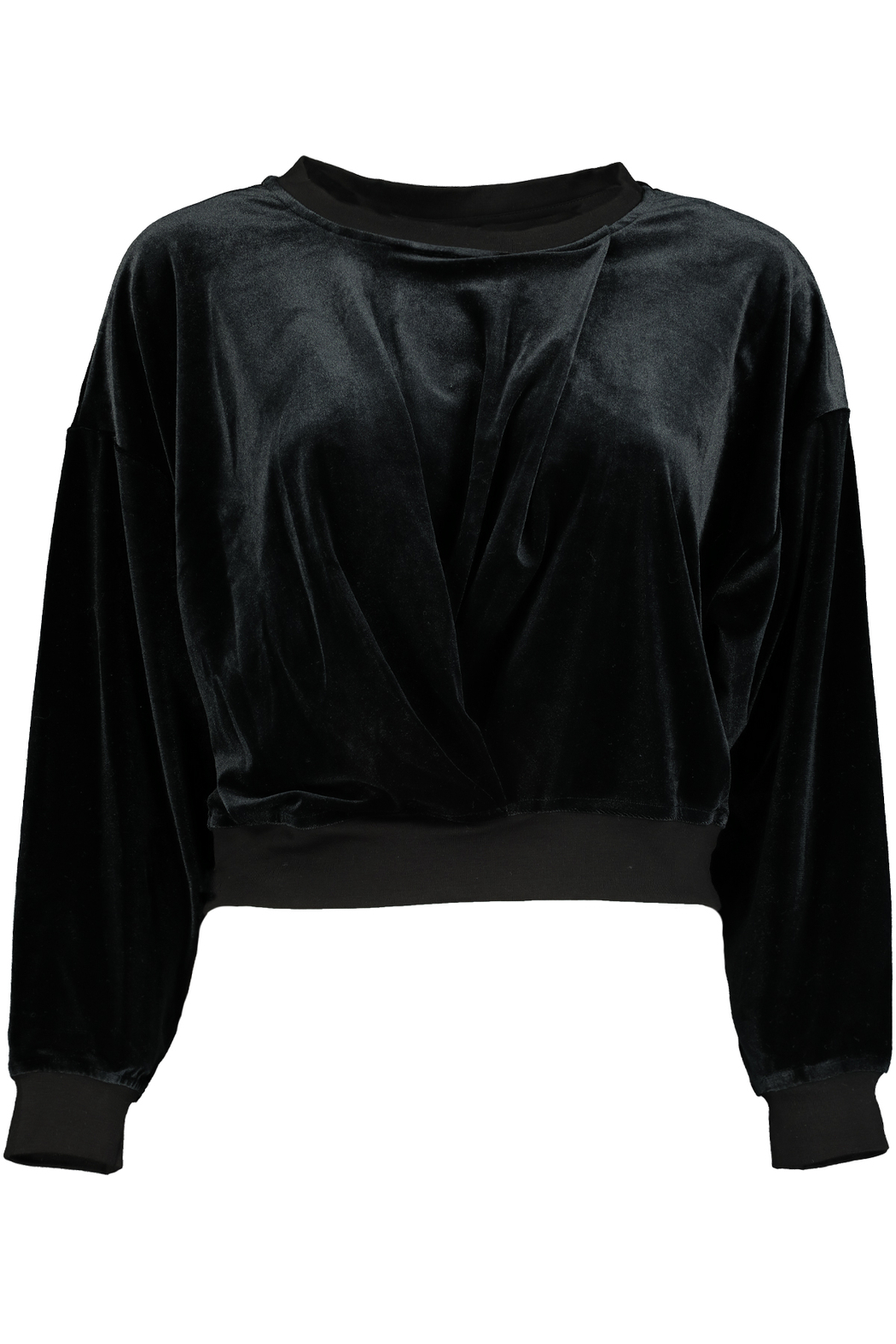 Bishop + Young Velvet Knot Front Sweatshirt - Front Cropped Image