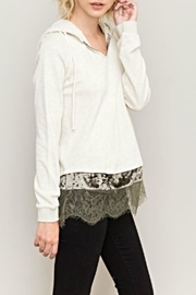 Hem & Thread Velvet Lace Hoodie - Product Mini Image