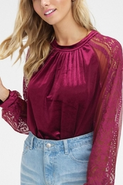 Listicle Velvet Lace Top - Product Mini Image