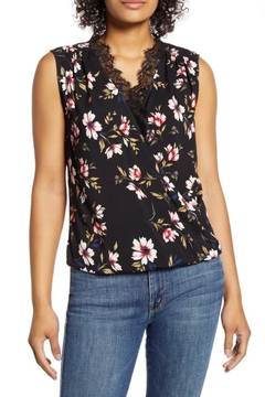 Velvet Lacy Sleeveless Challis Top - Product List Image