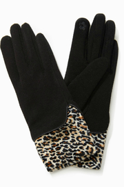 Look by M Velvet Leopard Layered Gloves - Product Mini Image