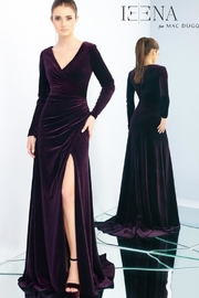 Mac Duggal Velvet Long-Sleeve Gown - Product Mini Image