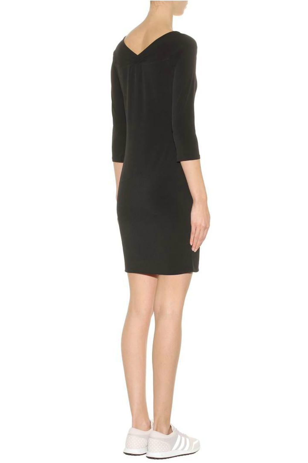 Velvet Marquette Jersey Dress - Side Cropped Image