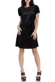 Jawbreaker Velvet Mesh Little-Black-Dress - Product Mini Image