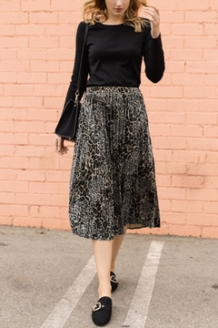 Shoptiques Product: Velvet Midi Skirt