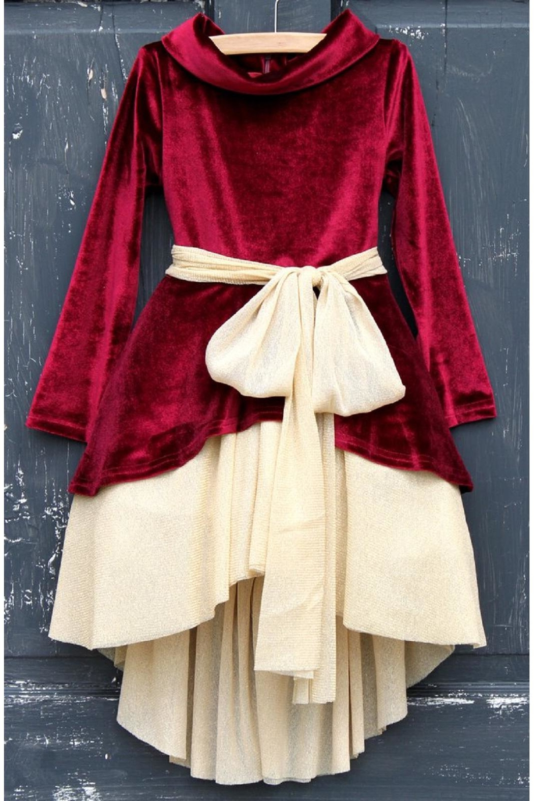 DollBaby Velvet Mockneck Dress - Main Image
