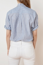 Velvet Denna Tie Shirt - Back cropped