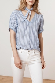 Velvet Denna Tie Shirt - Front full body
