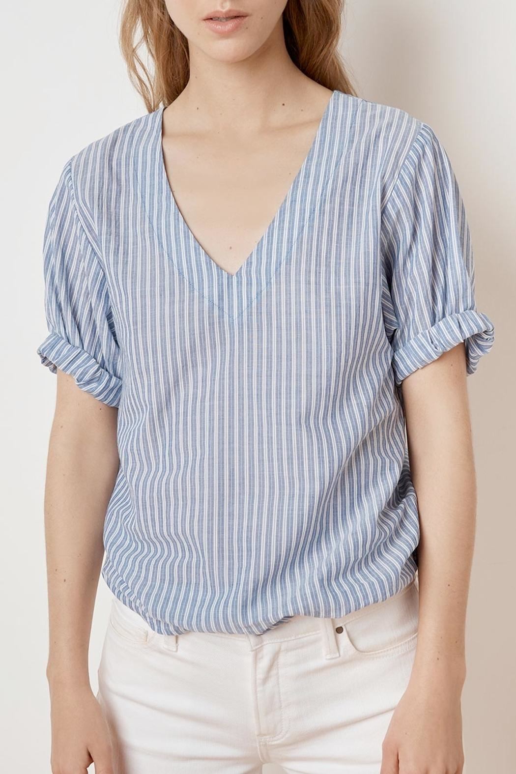 Velvet Denna Tie Shirt - Side Cropped Image