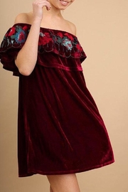 Umgee USA Velvet-Off-Shoulder Dress - Product Mini Image
