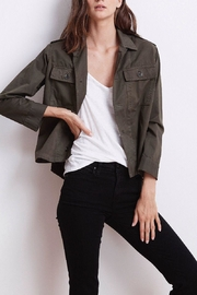 Velvet Olive Twill Jacket - Product Mini Image
